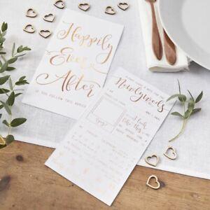 Wedding Advice Card Favours   Rose Gold Table Decoration Game Keepsake x10