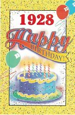 Birthday Card with Envelope 1928 Year of Birth