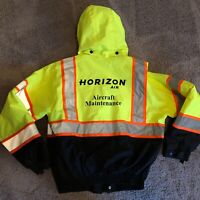 Alaska Horizon Airlines Aircraft Maintenance Hi-Viz Jacket Coat Virgin Employee