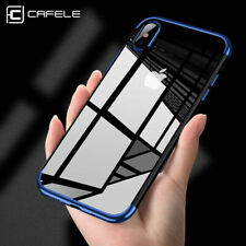 Thin Electroplating Soft Clear Case Cover For Iphone Apple 6, 7, 8, X and Plus