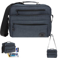 Schultertasche Elephant Genuine Herren Freizeittasche Tasche Bag Q3474 Anthrazit