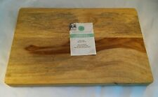 Martha Stewart Collection Sheesham Wood Cutting Board 10in x 15in Grip Bottom