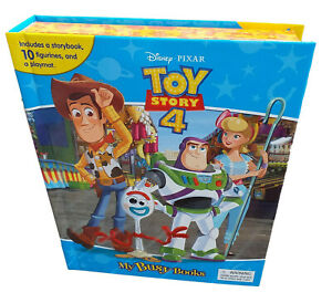 Toy Story 4 My Busy Book and 10 Figurines Plus Play Mat  Cake Topper Figures