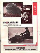 1987 POLARIS SNOWMOBILE INDY SERIES OWNERS & MAINTENANCE MANUAL (317)