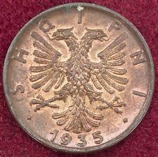 Albania 1 Qindar Ar 1935 (G0203)