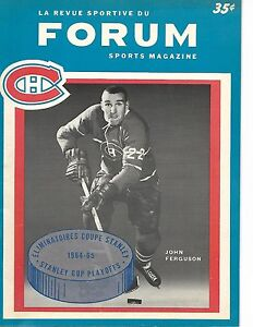 1964-65 Montreal Canadiens-Maple Leafs Playoff Program Game 5 Habs Win GEM!!