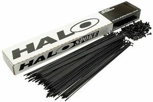 "Black J-bend Halo Spokes - MTB Road Mountain 700C 29er 27.5"" Bike Wheel Hub Rim"