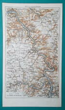 River Map Of Germany.Germany Antique Europe River Maps Ebay