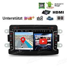 Android 7.1 Autoradio GPS DVD Bluetooth 5.0 HDMI für Renault Dacia Duster Symbol