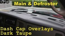 Dodge RAM Main & Defroster DASH Cap Overlay Cover ABS Molded Plastic Dark Taupe