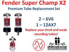 FENDER SUPER CHAMP X2 - New *PREMIUM* Tube Replacement Set - 2x 6V6 / 1x 12AX7