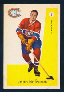 1959-60 PARKHURST #6 JEAN BELIVEAU, MONTREAL CANADIENS !! BA11