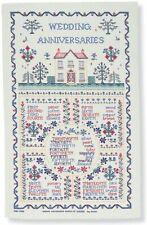 Ulster Weavers Wedding Anniversaries Sampler Tea Towel 100% Cotton Floral Gift