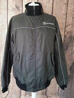Mens Mercedes Benz Jacket Coat Black Xl Chest 48-50
