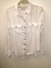 Abercrombie & Fitch White Long Sleeve Button-front Shirt size medium
