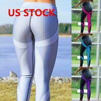 Sport Women Compression Fitness Leggings Running Yoga Gym Pants Workout Wear US