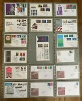 1960s to 1980s UK First Day Covers in 3 Albums