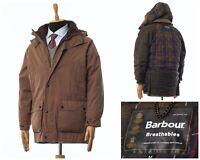 Mens BARBOUR Breathables Duracotton Parka Jacket Coat Brown Size M