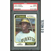 Dave Parker RC Rookie 1974 Topps #252 PSA 8 HOF ? Pittsburgh Pirates MVP Rookie
