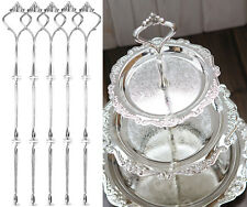 5 X 3 Tier Wedding Party Tea Cake Plate Silver Stand Centre Handle Fitting