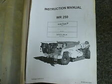 Wirtgen WR250 Cold Recycler & Soil Stabilizer Owner Operator Maintenance Manual