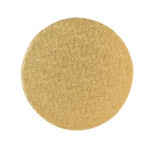 Tortenplatte / Cakeboard 35,4cm rund | aus fester Pappe | golden kaschiert | Mot