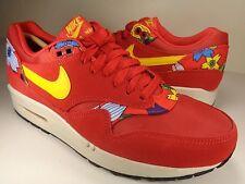 Womens Nike Air Max 1 Print Aloha Red Yellow Black Flower SZ 9 (528898-602)