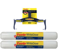 """Purdy Adjustable Roller Frame + 2 x 18"""" White Dove (3/8"""" Nap) Refills"""