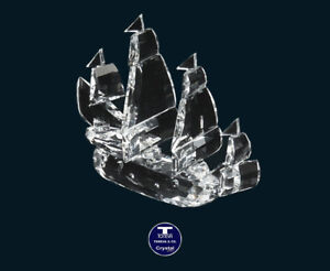 """[SPECIAL OFFER] """"Large Yacht"""" Austrian Crystal Figurine was AU$288.00"""