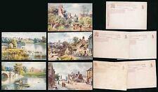 OXFORDSHIRE TUCKS OILETTE 7623 SERIES II ARTIST WIMBUSH...5 CARDS