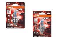 2x H4 12V 60/55W P43t NIGHT BREAKER® LASER Next Generation +150%  Osram