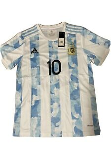 Messi #10 Argentina Jersey Home mens Large Replica