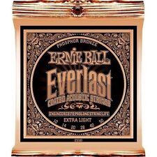 Ernie Ball 2550 Everlast Ext LT Coated Acoustic Guitar Strings Free Ship U.S