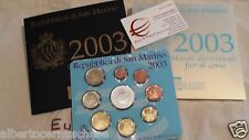 2003 SAN MARINO 9 monete 8,88 EURO BU Saint Marin ufficiale Сан - Марино