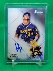 2021 Hedbert Perez Bowman Sterling Prospect Autographs Milwaukee Brewers