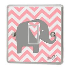 Baby Pink Elephant Light Switch Sticker Vinyl/Graphics/Decal/Skin Cover sw15