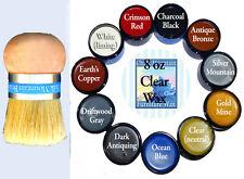 Chalk Paint Wax Kit 1 Palm Brush & 1 8 oz Clear Wax With 1 4 oz Accenting Wax