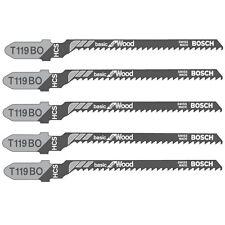 5 X Bosch Brand T119BO courbe & Scroll Cut bois lames de scie sauteuse Bois et contreplaqué