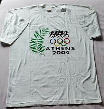 NWOT 2004 ATHENS OLYMPIC GAMES EMBROIDERED DESIGN T-SHIRT WOMEN/MEN/UNISEX SZ L
