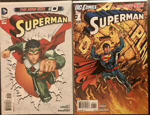 Huge Lot Of 14 2011 First Print Superman Run #0,1,2,3,4,5,6,7,8,9-13 See Pics