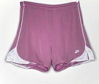 Vintage Nike Women's Mesh Shorts Athletic Lined Nylon Pink/White Sz M