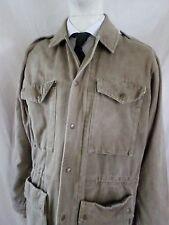BANANA REPUBLIC Mill Valley vintage tan cotton military safari jacket LARGE