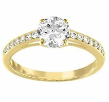 Swarovski Attract Round Ring, Gold-Plated Size:6/S Crystal Authentic 5139067