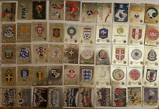 Panini WM 2018 Sticker Wappen aussuchen World Cup 18 Russia Glitzer Logo choose