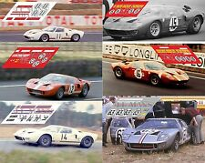Calcas Ford GT40 Le Mans 1966 Test 1:32 1:24 1:43 1:18 slot decals