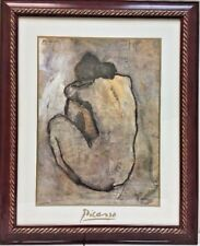 """Pablo Picasso's """"Blue Nude"""" c.1902 (Framed,Signed,Artwork Reproduction)"""