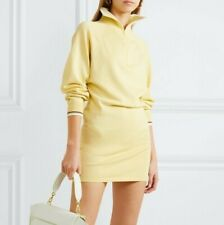 $515 Isabel Marant Etoile High Neck Dita Stretch Knit Sporty Sweater Mini Dress