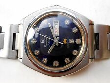 RARE VINTAGE SS JAPAN BIG SIZE DARK BLUE DIAL RICOH GENTS AUTOMATIC WRISTWATCH