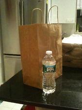 50 Kraft Brown Paper Gift Bags 10x5x13