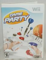 Nintendo Wii Game Party Video Game - Darts Table Hockey Shuffle Board & Trivia B